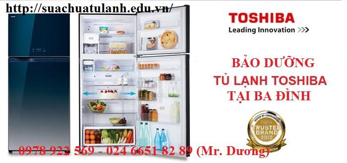 bảo dưỡng tủ lạnh Toshiba tại Ba Đình