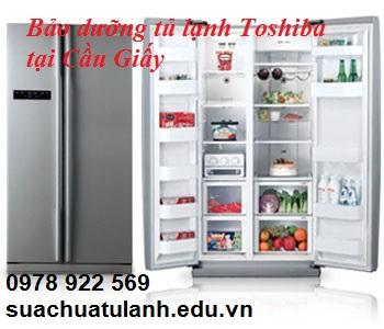 bảo dưỡng tủ lạnh Toshiba tại Cầu Giấy