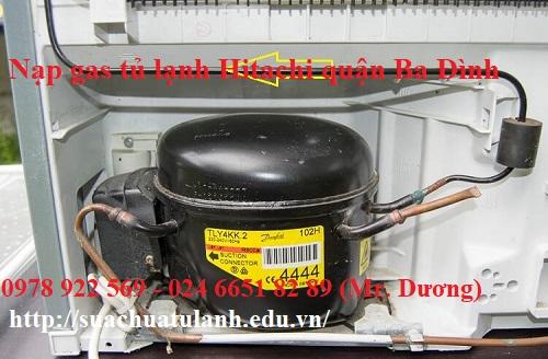 Nạp gas tủ lạnh Hitachi quận Ba Đình