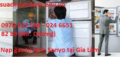 Nạp Gas Tủ Lạnh Sanyo Tại Gia Lâm