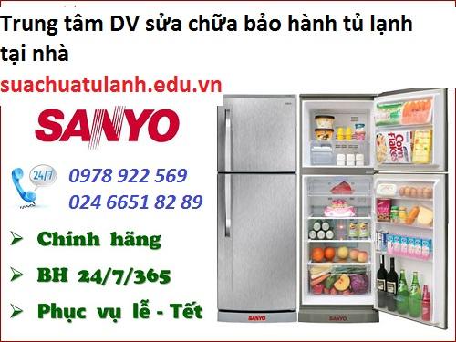 sửa chữa tủ lạnh Sanyo tại Long Biên