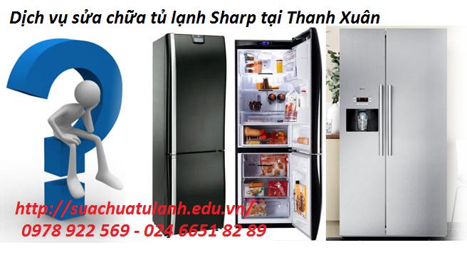 sửa chữa tủ lạnh Sharp tại Thanh Xuân