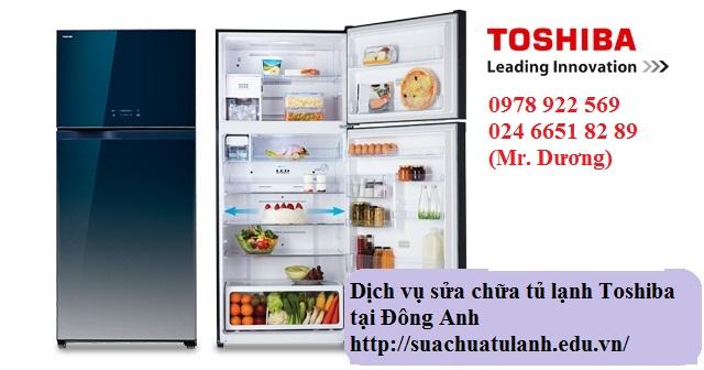 sửa chữa tủ lạnh Toshiba tại Đông Anh